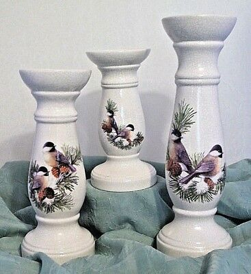 Set of Three Ceramic Candlesticks   11/16*800