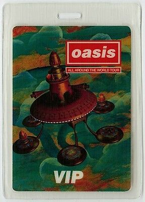 Oasis authentic 1997-1998 tour Laminated Backstage Pass