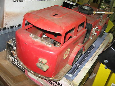 Vintage Tin TEXACO FIRE CHIEF Truck Old Gas Station & Oil Stuff PARTS?