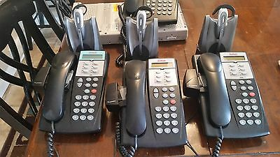 Avaya 308 Phone System with 4 Phone and Wireless Headsets