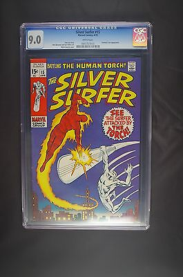 Silver Surfer 15 first series CGC 9.0 WP 4/70
