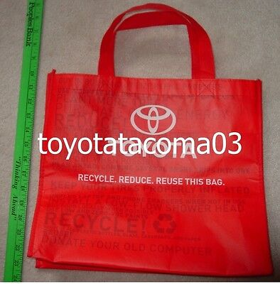 Toyota Shopping/Tote bag - Red - Made from recycled materials - NEW