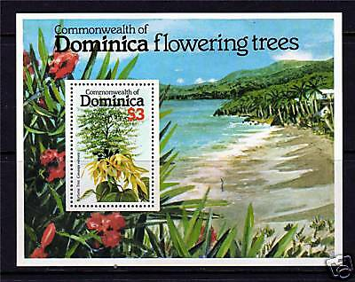 Dominica 1979 Flowering Trees MS SG681 MNH