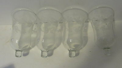 Set of 4 Home Interior Holly & Bow Votive Cups