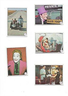 5 Topps 1966 Bat Laffs Cards Numbers 41-35-32-38-42