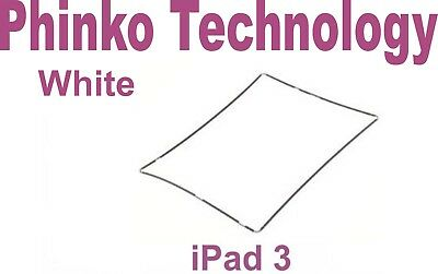 iPad 3 Touch Screen Glass Digitizer Plastic Middle Mid Frame Bezel Screen White