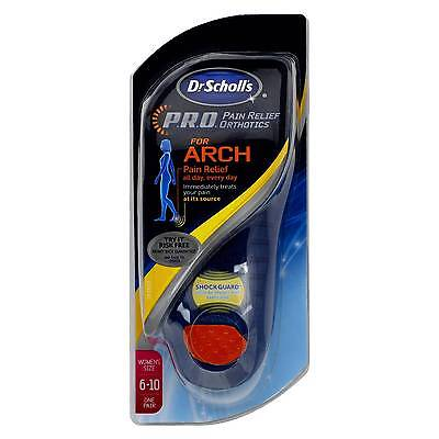 Dr Scholls Pro Pain Relief Orthotics for Arch  WOMENS SIZE 6-10 New Sealed