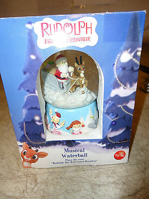 Rudolph The Red Nosed Reindeer Musical Waterball Water Globe Snow Globe
