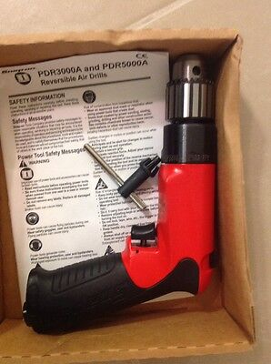 "Brand New Snap On HEAVY DUTY 3/8"" Reversible Air Drill #PDR3000A"