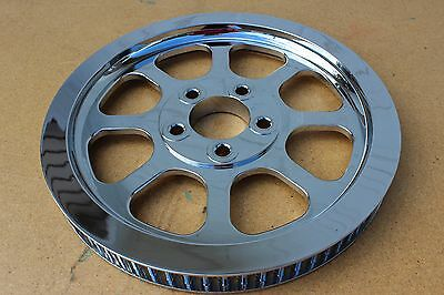 "Custom Chrome Billet Pulley 70 Tooth 1"" Belt New"