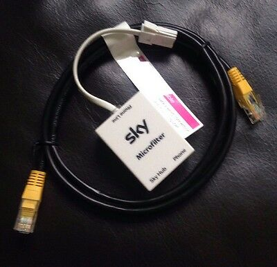 Sky Micro Filter & Ethernet Cable (new)