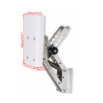 White Heavy Duty Stainless Steel Outboard Motor Bracket Up To 25hp NEW Selling