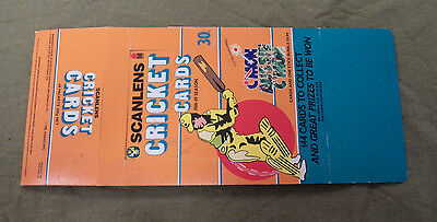 #t106.  1988-89   Scanlens Cricket  Card Counter Display Box
