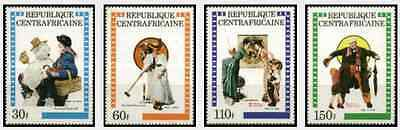 Timbres Centrafrique 499/502 ** lot 16932