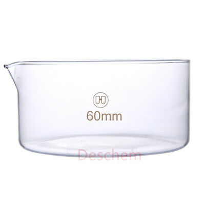 Deschem 60mm*40mm,Glass Crystallizing Dish,Laboratory Chemistry Glassware,OD 6CM