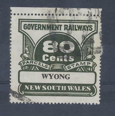 NSW 80 cents Railway Parcels  WYONG used