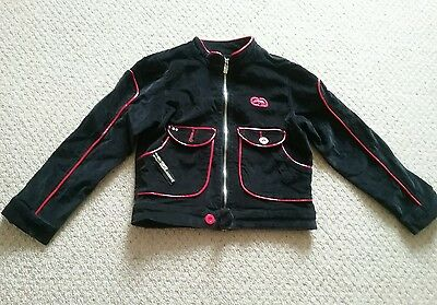 Girls Black and Red Biker style Jacket 6yrs