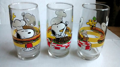 Snoopy Vintage Drinking Glasses subway c1958 - 1965 6""