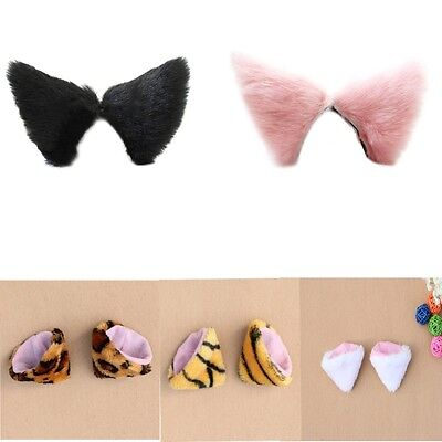 Hair Clip Faux Fur Anime Cats Ears Hairpin Cosplay Party Costume Gatto Orecchio
