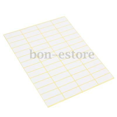 56X15 Sheets White Sticky Labels 13x38MM Price Stickers Tags Blank Self Adhesive