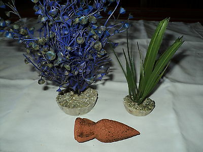 Decoration Aquarium Lot De 2 Plantes + Petite Amphore