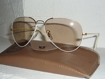 Top! Vintage Ray Ban USA B&L Flying colors 58 14 changeable Aviator orig. case