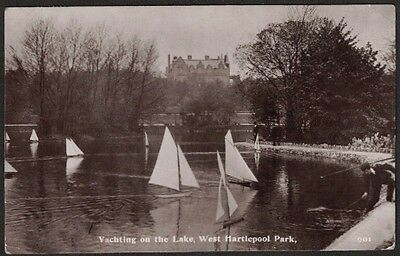 Yachting On The Lake, West Hartlepool Park, Co. Durham, Brittain & Wright, Rp.