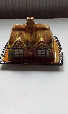 Cottage ware butter/cheese  dish + Keele pottery saucer