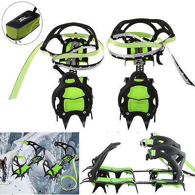 Professional Mountaineering BRS-S1B 14 Teeth Bundled Crampons Ice Gripper Cleats