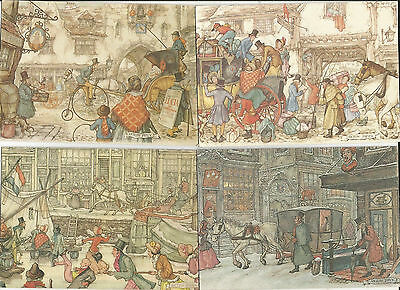 7 Super Postcards From The Netherlands, Anton Pieck Art Cards, Spanjersberg Bv