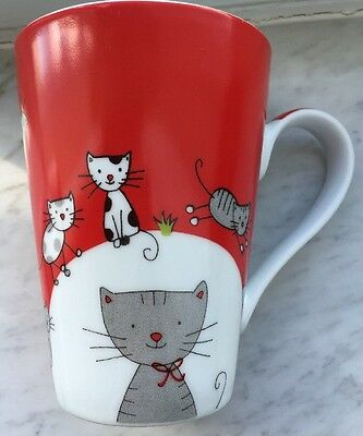 Konitz Globetrotter Cat Mug Red