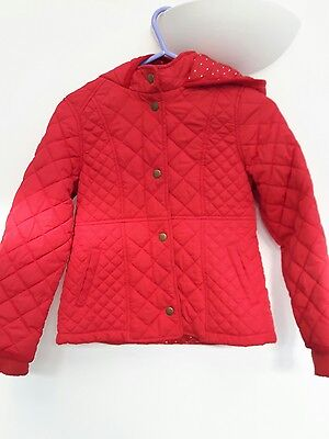 m&s red padded coat age 6-7