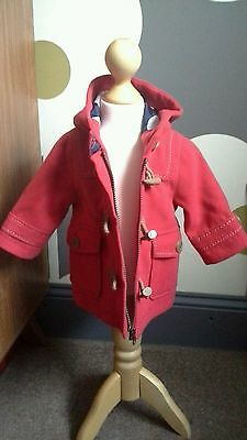 💟quality* Next*baby Girls Red Duffle Coat /jacket 3-6 Month **worn Once**