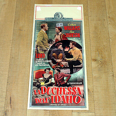 LA DUCHESSA DELL'IDAHO locandina poster Van Johnson Esther Williams Musical E87