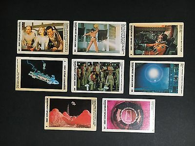 Space 1999 Card Lot Of 8 From Sunicrust From 1975
