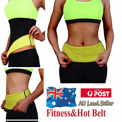 Women Slim Belt Fit Body Shaper Belly Waist Trimmer Fat Burn Sweat Shapewear #KY