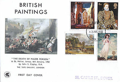 Wessex First Day Cover-British Paintings-Fdi, Dover Kent H/s-1968