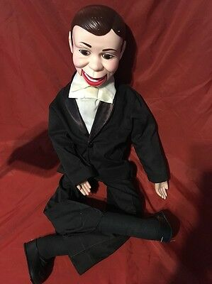 Vintage 1977 Juro Novelty Company Charlie McCarthy Doll Ventriloquist Puppet