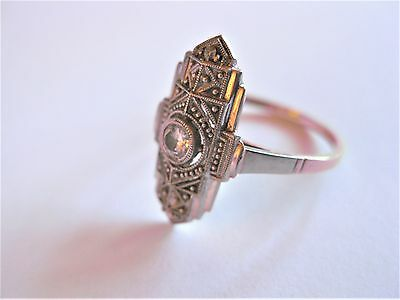 Art Deco Ring Gold 585 mit Diamant