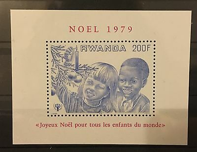 MINT stamp pictorial sheet - Rwanda Christmas 'Year of the Child' 1979
