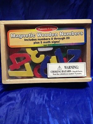 Melissa And Doug Magnetic Wooden Numbers New In Wood Case