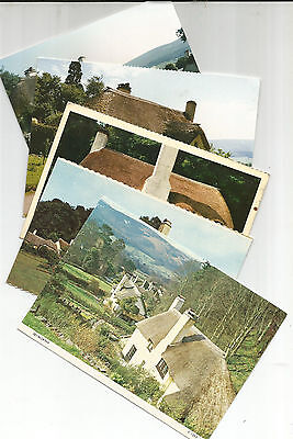 4 Unused Postcards & A Photo Of Selworthy, Somerset,
