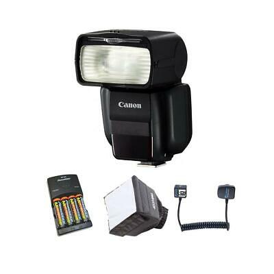 Canon Speedlite 430EX III-RT Flash, USA, Guide # 141' with Free Accessory Bundle