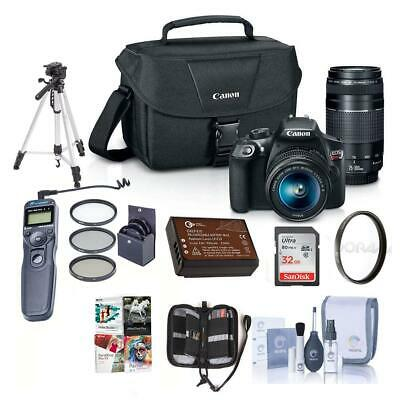 Canon EOS Rebel T6 DSLR with 18-55mm IS and 75-300mm III Lenses and Premium Kit
