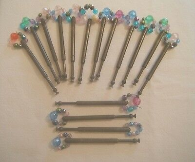 Group Of 16 Plastic/bead Spangles Lace Bobbins