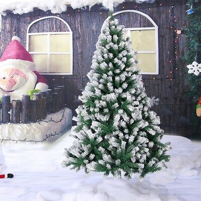 Premium 4ft,5ft,6ft Green Artificial Christmas Tree Pine Spray Snow Spruce