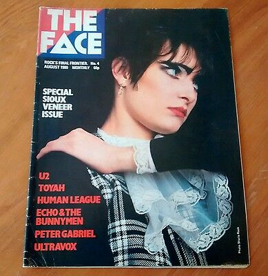 The Face Magazine - #4 - August 1980 - Siouxsie - Human League - U2 - Bunnymen