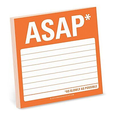 NEW Knock Knock ASAP (As Slowly As Possible) Sticky Note by Knock Knock