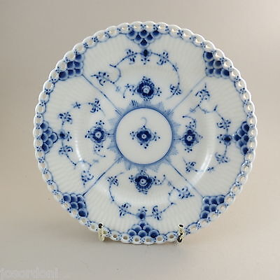 Royal Copenhagen 1088 Blue Fluted Full Lace Side Plate 150 mm. 1st Quality