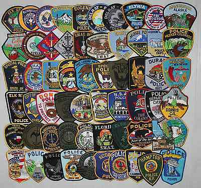 Lot Of 120 Various Nice Police Patches